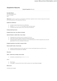 Truck Dispatcher Resume Tow Sample Examples Near