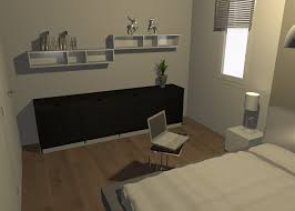 modernes schlafzimmer wandregal sideboard fashion
