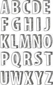 Vector Of Font Doodle Alphabet Bujo