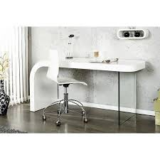 bureau en verre blanc bureau design blanc laqué et verre timmen achat vente bureau