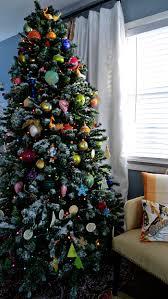 Slim Snow Flocked Christmas Tree by Diy Flocked Christmas Tree Christmas Lights Decoration
