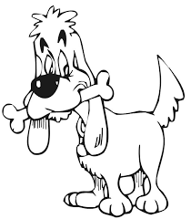 This Free Printable Dog Coloring Activity Of A With Bone In Its Mouth Is An Amazing Pick For Young Kids Who Are Fans