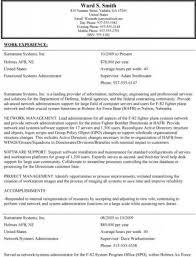 Government Job Resume Template