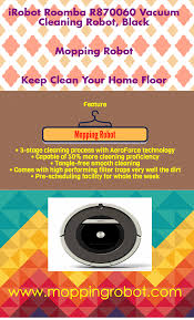 Irobot Roomba Floor Mopping by Irobot Roomba R870060 Vacuum Cleaning Robot Black Infographic