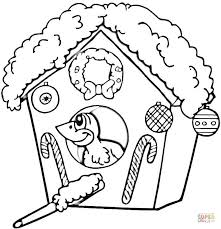 Click The Christmas Birdhouse Coloring Pages To View Printable