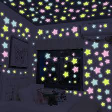children bedroom ceiling luminous windows stickers colorful