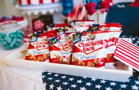 Cracker Jack Popcorn From A Patriotic Red White Blue Birthday BBQ Via Karas Party