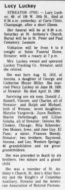 100 Luckey Trucking Lucky Obituary 25 Jun 1982 Newspaperscom