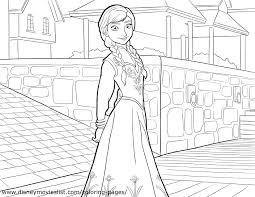 Disney FROZEN Coloring Pages Throughout Anna Page