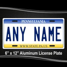 Personalized Pennsylvania License Plate for Bicycles Kid s Bikes