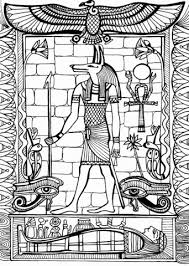 Click To See Printable Version Of Anubis God Ancient Egypt Coloring Page