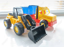 100 Loader Truck Toy Wheel And Toy Dump Close Up Toy Industrial Stock