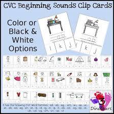 New CVC Word Family Beginning Sound Clip Cards Short A