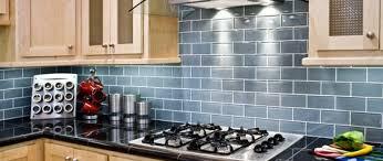 modern concept kitchen backsplash glass tile blue blue glass