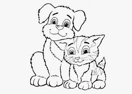 Cats And Dogs Coloring Pages Free Books In Dog Cat