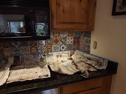 kitchen backsplash mexican decorative tiles mexican backsplash