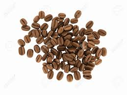 Coffee Beans Without Shadow On White Background 3d Stock Photo