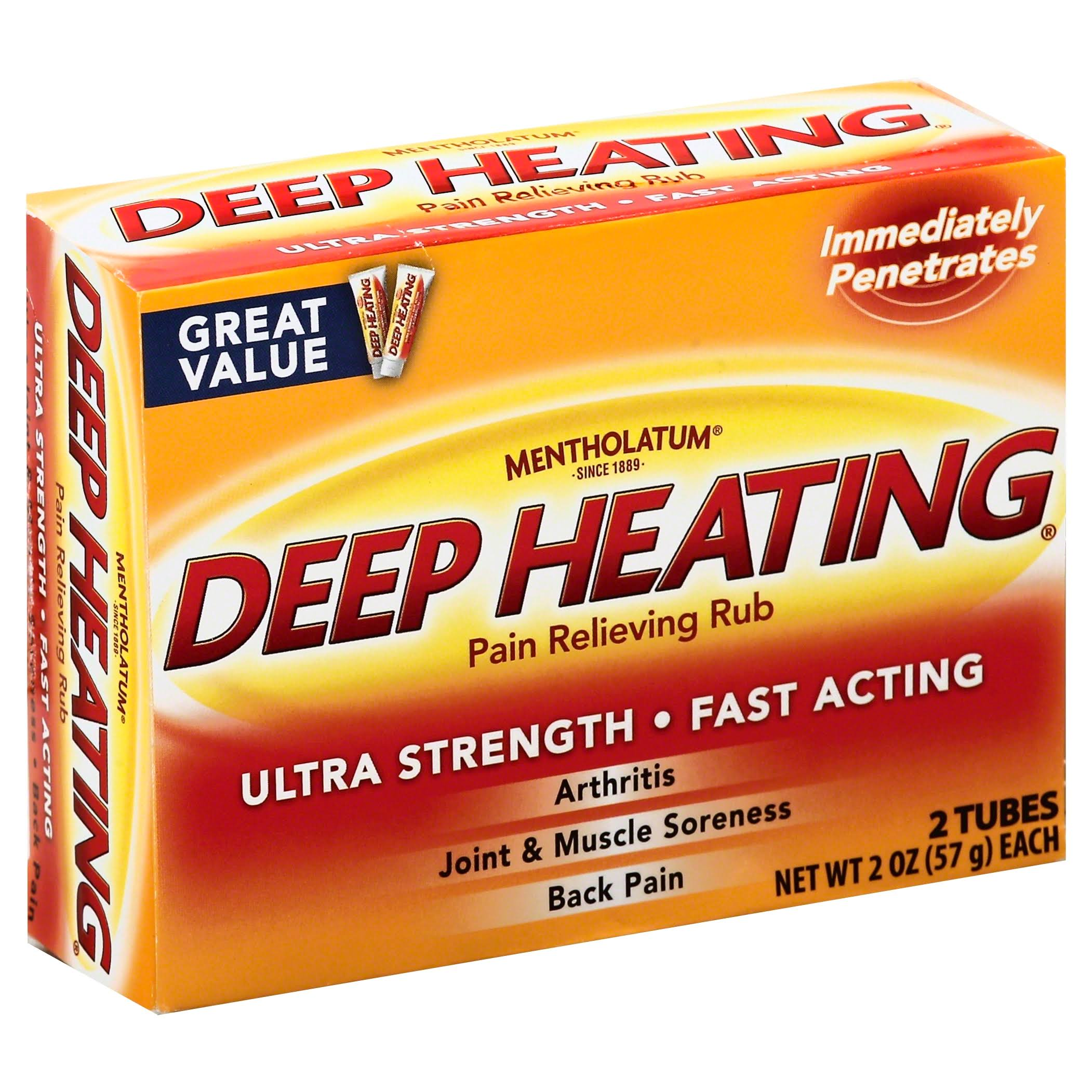 Mentholatum Deep Heating Pain Relieving Rub - 2 Tunes, 114g