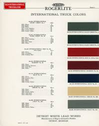 100 Ford Truck Colors Colour Charts Old International Parts