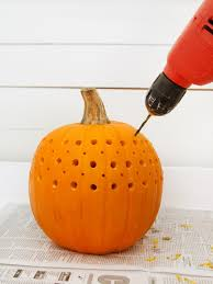 Pumpkin Carving With Drill by How To Make A Pretty Fretwork Pumpkin Hgtv