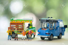 100 Toy Farm Trucks And Trailers Miniature People Traveller Backpacker Standing With Thai Farming