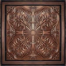 Antique Ceiling Tiles 24x24 by Amazon Com Antyx Antique Copper Patina 24x24