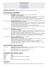 Career Objective Of Marketinng Specialist With Marketing Resume Examples And Professional Experience In Fortuneo S M L