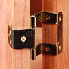 270 degrees non mortise hinge bright brass pair