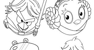 Angry Bird Star Wars Coloring Pages With Regard To Inspire Color An Image