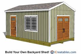 Wood Storage Sheds 10 X 20 by 12x20 Large Storage Shed Plans 12x20 Shed Plans Pinterest
