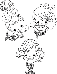 Little Mermaids Coloring Pages One Of The Baby Mermaid