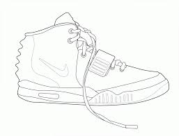 Nike Air Yeezy 2 Coloring Page