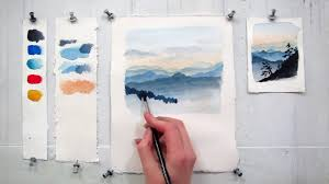 Easy Step By Watercolor Tutorial Painting The Blue Ridge Mountains