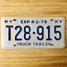 1979 Kentucky Truck Trailer License Plate T28-915 In 2018 | License ...