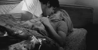 gif kiss couple bed discover share gifs