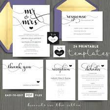 Unique Homemade Wedding Invitation Kits For And S Printable Do It Yourself Templates