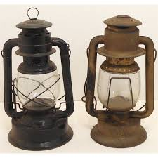 Rayo Oil Lamp Value by Lot Of Two Vintage Rr Lanterns Dietz Rayo