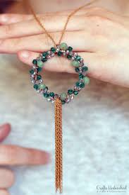 Beaded DIY Wreath Necklace Crafts Unleashed 1