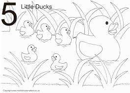 Little Ducks Colouring Page 5 Sheet
