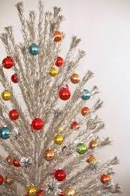 Aluminum Christmas Tree Pom Colorful Shiny Brites