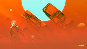 Orange Pluto Wallpaper Astronaut And Space Dog On Red Planet Retro Helmet