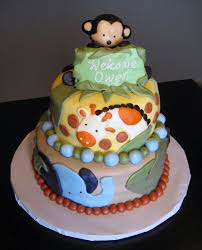 Custom Cakes by Julie Jungle Baby Shower Cake