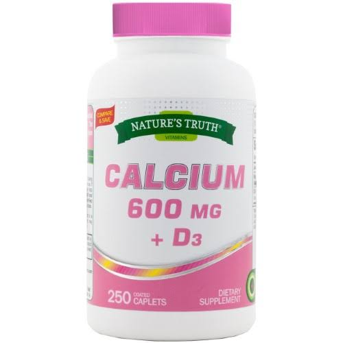 Nature's Truth Calcium Plus Vitamin D3 Tablets - 250ct
