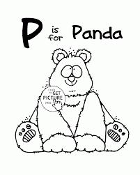 Letter P Alphabet coloring pages for kids Letter P words