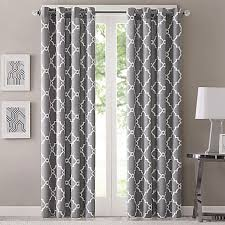 Sound Deadening Curtains Bed Bath And Beyond by Fretwork Window Curtain Panel Bed Bath U0026 Beyond