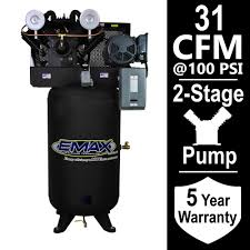 EMAX Industrial Series 80 Gal 7 5 HP 1 Phase Electric Air