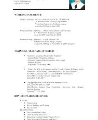 Resume Examples For Jobs Of Resumes Best Teacher Example Education Limited Work Experience