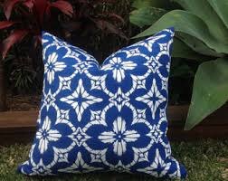 Blue And White Coastal Outdoor Cushions Aspidoras Indoor Cushion Pillow Caribbean Bohemian