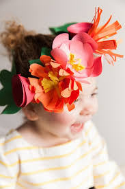 The Sweetest Little Paper Flower Crowns You Ever Did See