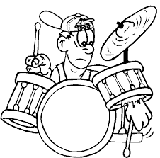 Drums Coloring Page 14 Drummer Pages